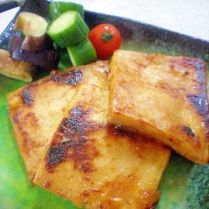 高野豆腐のしょうが焼き