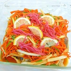 和風 鯵のお野菜たっぷりマリネ