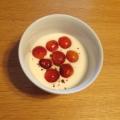 さくらんぼのシナモンヨーグルト