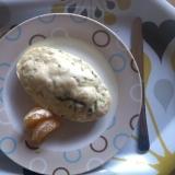 シリコンスチーマーで簡単ほうれん草蒸しパン