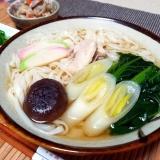 秋田県♡稲庭うどんの関西鍋焼きうどん風♡