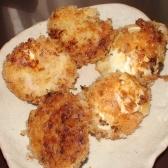 クリームのせ卵の揚げ物