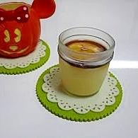 寒天でかぼちゃプリン