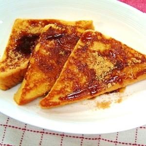 ジンジャーフレンチトースト☆黒蜜きな粉で和テイスト