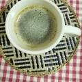 スイカコンポート入りコーヒー