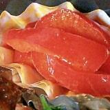 赤パプリカのカレー炒め