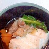 豚肉と豆腐の昆布茶煮