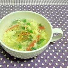 簡単でキレイ♪貝割れの玉子スープ