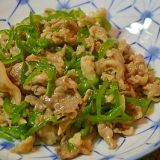 豚こまとピーマン炒め(チンジャオロース風)