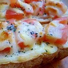 おうちでランチ☆トマト&チーズ