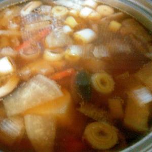 お蕎麦とお雑煮用☆野菜たっぷりつゆ