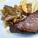 【塊肉】牛モモ肉の厚切りシャリアピンステーキ