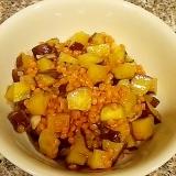 さつまいもとれんず豆の和風ドレッシング煮