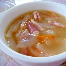 ベーコンと玉ねぎのスープ