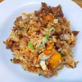 焼き飯/豚こま醤油漬卵