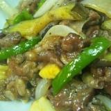 牛肉といろいろ野菜のオイスターソース炒め