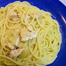 塩麹で味付け☆ 鶏とコーンのクリーミィスープパスタ