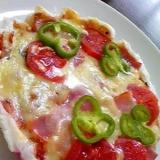 餅ピザ☆フライパンで