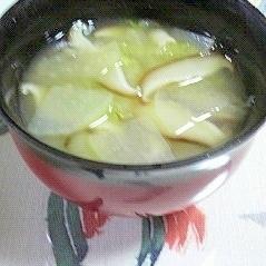 紅しぐれ大根と白菜のお味噌汁♪