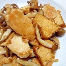とり肉と厚揚げの生姜炒め