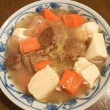 野菜たっぷり肉豆腐