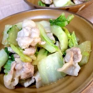 白菜と豚薄切り肉の塩麹炒め