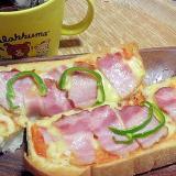 食パンで簡単ピザトースト