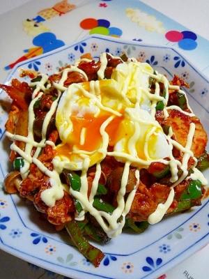 豚キムチ丼♪