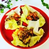 ネバネバ納豆のサムギョプサル風