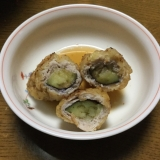 なすの豚肉巻き天ぷら