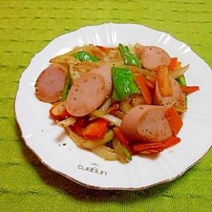 魚肉ソーセージと野菜の炒め物