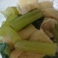 簡単一品♪小松菜と油揚げの煮物