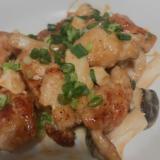 鶏胸肉とエリンギのオイマヨ炒め