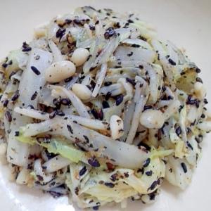 えのきと白菜の胡麻味噌サラダ