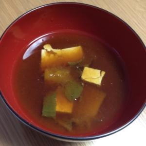 かぼちゃと豆腐のお味噌汁