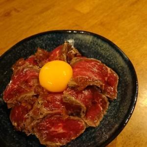 ローストビーフ丼 白だしご飯がおいしい!