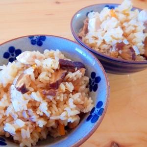 たっぷり椎茸の炊き込みご飯☆
