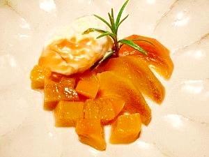 柿☆白ワインコンポート