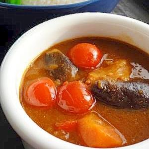 夏野菜で♪茄子とトマトのカレー