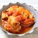 ロールキャベツと鶏肉のトマト煮