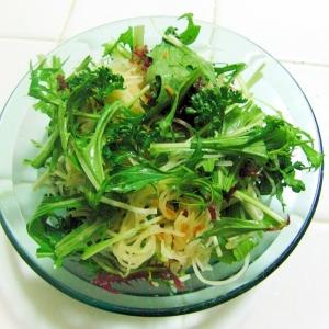 刺身のつまと水菜のサラダ