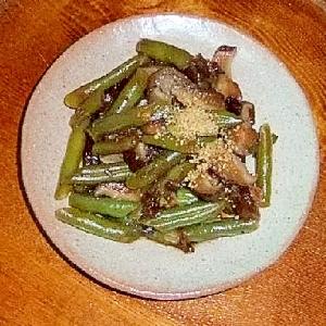 干し椎茸といんげんの佃煮風