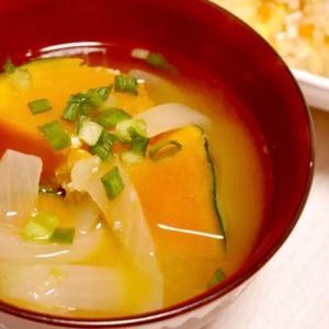 風邪予防に!生姜入りかぼちゃの味噌汁