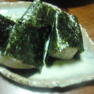 タイラギの炙り海苔巻き