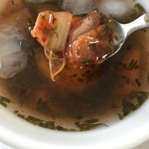 ギバサ入り冷製キムチスープ
