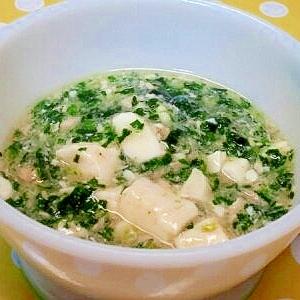 【離乳食】豆腐のとろみ煮(鮭&ほうれん草)