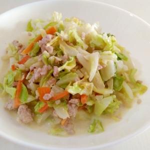 キャベツ消費☆挽き肉とキャベツのマヨ炒め