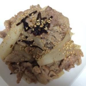 10分!炒めても美味しい豚と大根の塩昆布炒め☆