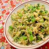 アスパラ菜としらすの卵とじ♬