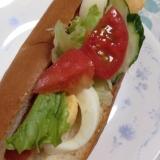 フレッシュ☆野菜たっぷり(*^^*)ホットドッグ☆